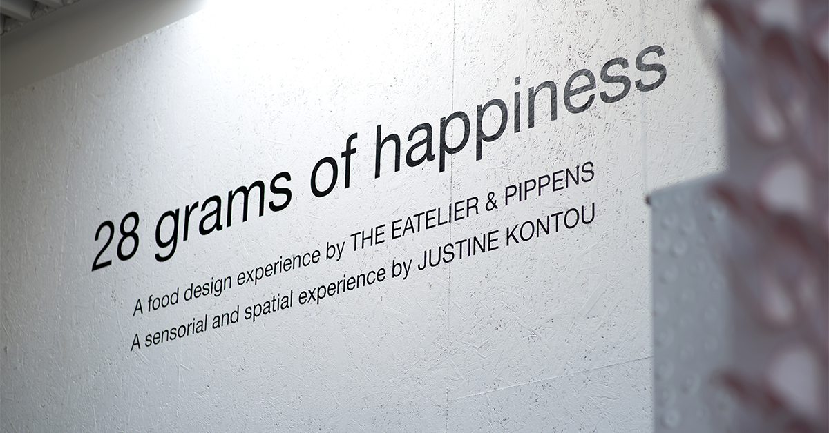 The food design research project 28 Grams of Happiness explores how to cultivate mental and emotional well-being through food.